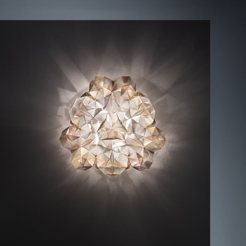 Slamp 'Drusa' Ceiling/Wall Lamp by Adriano Rachele Gold Mood