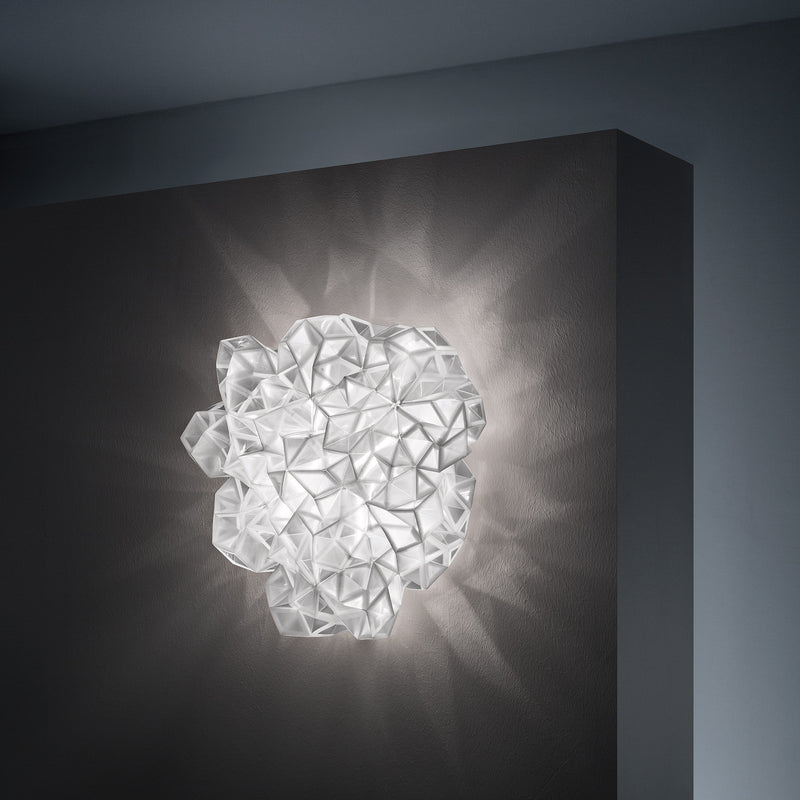 Slamp 'Drusa' Ceiling/Wall Lamp by Adriano Rachele White Mood