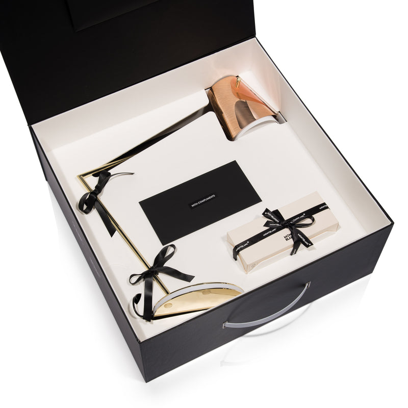Slamp Overlay Table Lamp and Montblanc Pen Packaging