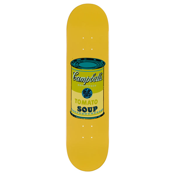 Andy Warhol Coloured Campbell's Soup Skateboard - Beige