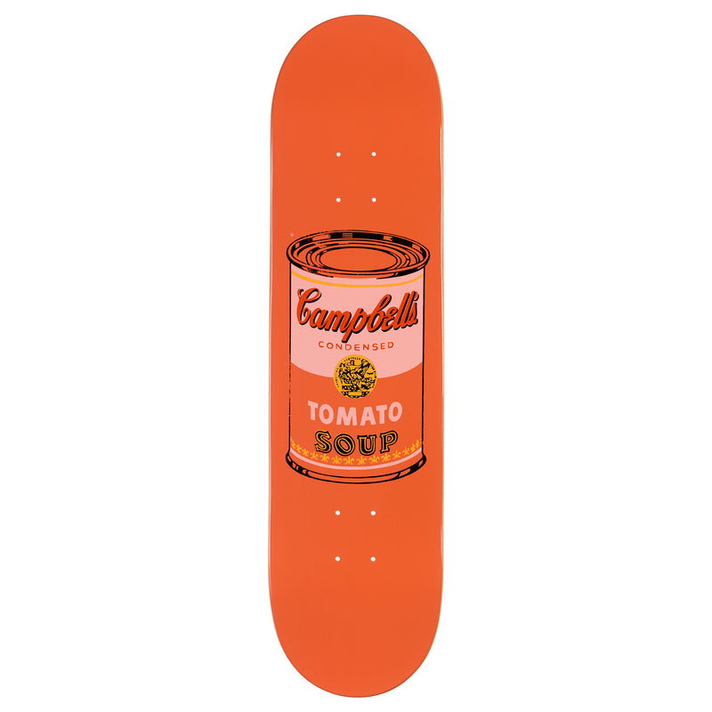 Andy Warhol Coloured Campbell's Soup Skateboard - Peach