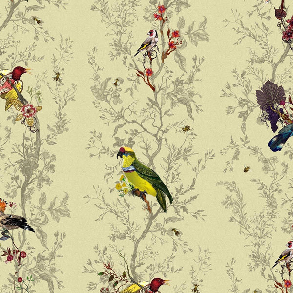 Timorous Beasties 'Birds N Bees' Wallpaper Antique