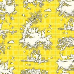 Timorous Beasties 'Classic Hunt' Wallpaper Yellow