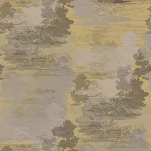 Timorous Beasties Cloud Toile Fabric Yellow