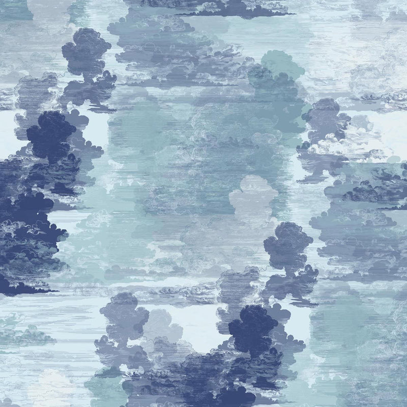 Timorous Beasties Cloud Toile Wallpaper Blue