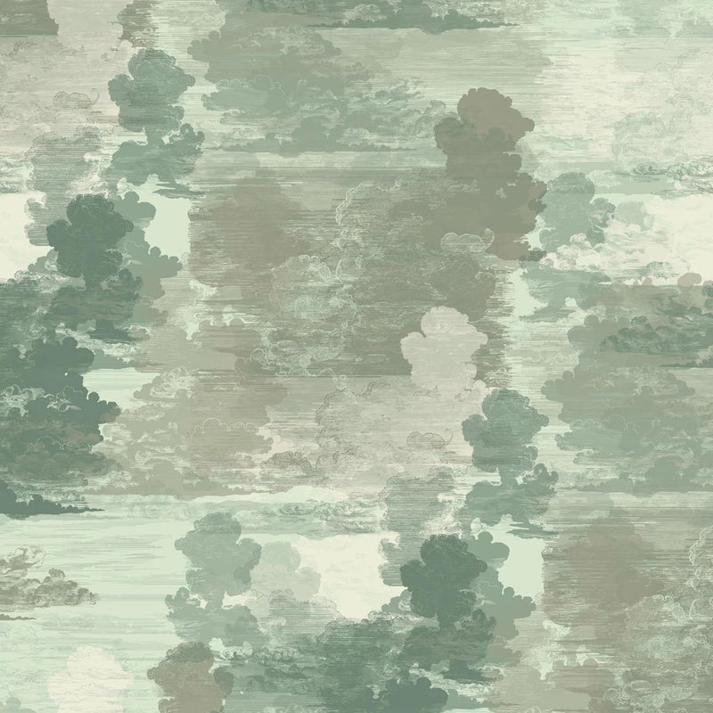 Timorous Beasties Cloud Toile Wallpaper Green