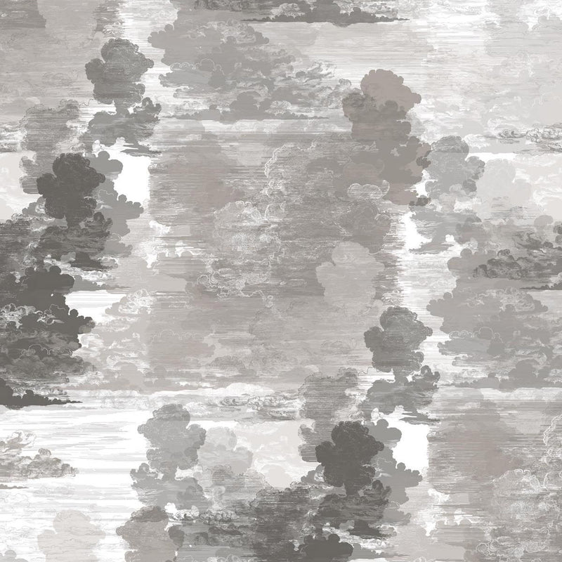 Timorous Beasties Cloud Toile Wallpaper Grey
