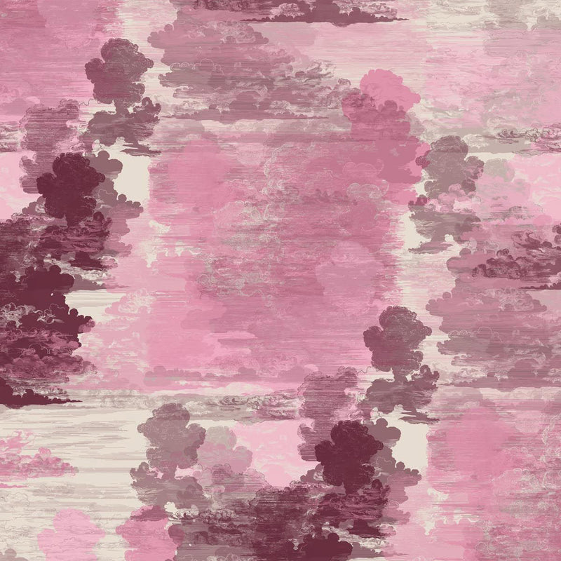Timorous Beasties Cloud Toile Wallpaper Pink