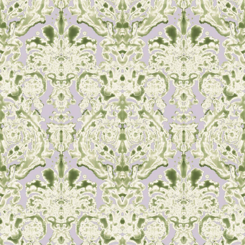Timorous Beasties 'Dam Classic' Wallpaper Lime
