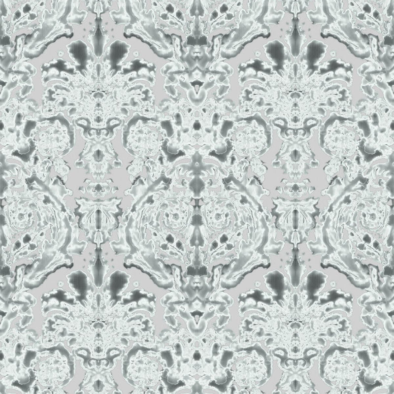 Timorous Beasties 'Dam Classic' Wallpaper Silver Grey
