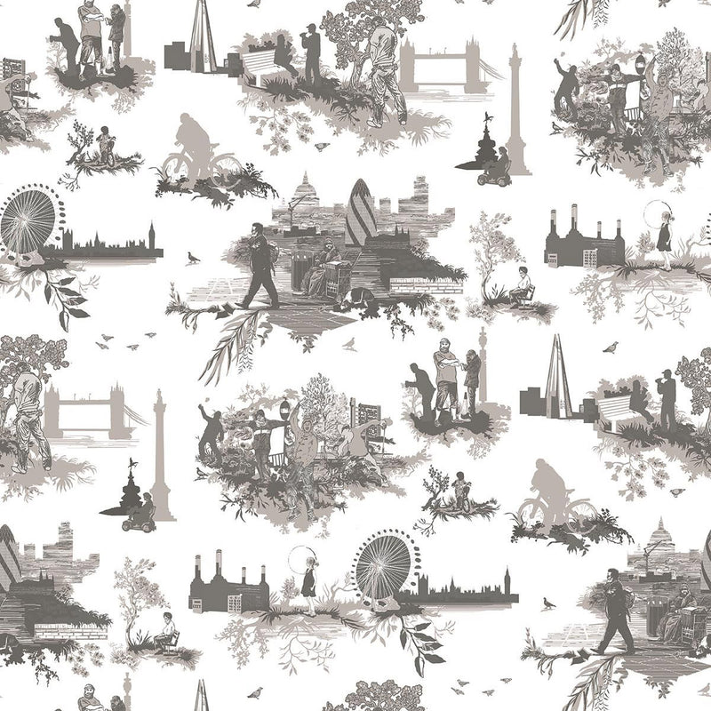 Timorous Beasties Diamond Jubilee Toile Wallpaper