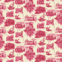 Timorous Beasties 'Edinburgh Toile' Wallpaper Red