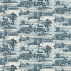 Timorous Beasties 'Glasgow Toile' Wallpaper Blue