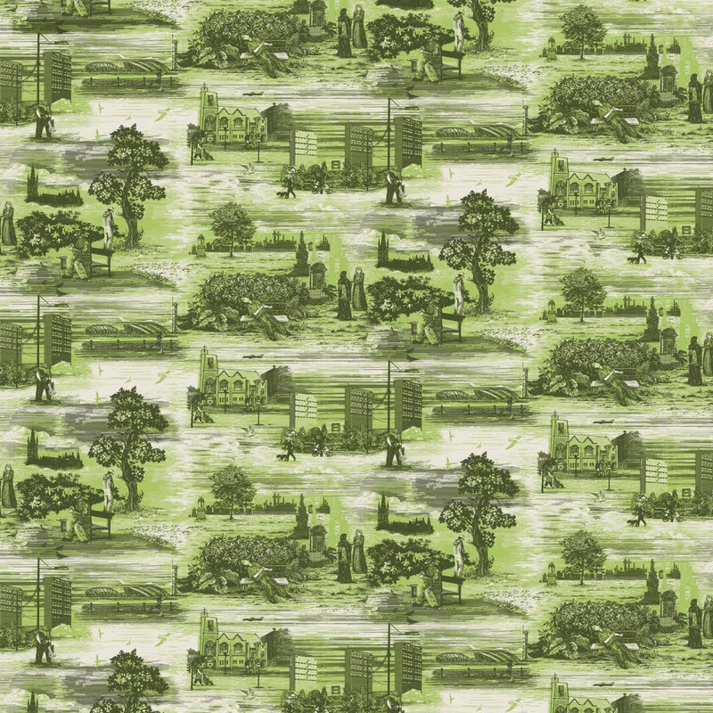 Timorous Beasties 'Glasgow Toile' Wallpaper Green