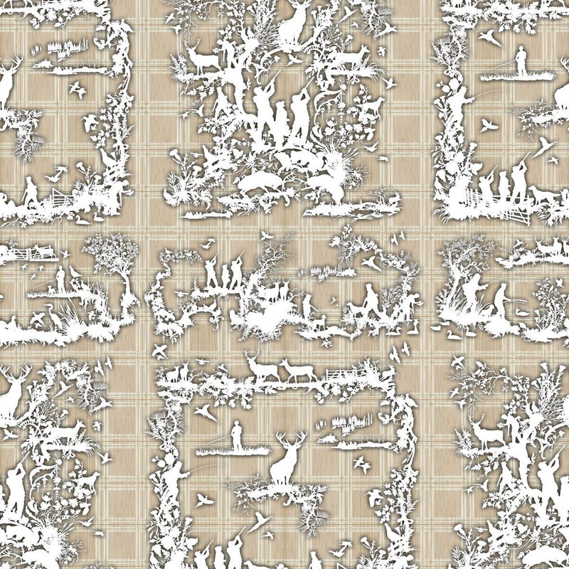 Timorous Beasties 'Glorious Twelfth' Wallpaper Beige