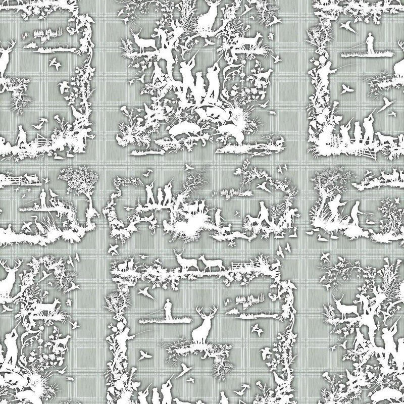 Timorous Beasties 'Glorious Twelfth' Wallpaper Grey