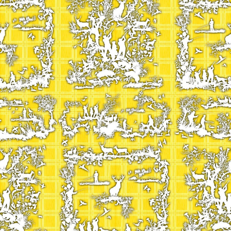Timorous Beasties 'Glorious Twelfth' Wallpaper Yellow
