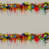 Timorous Beasties Graffiti Horizon Velvet Fabric Original
