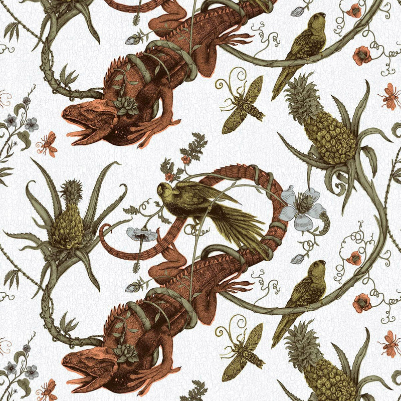 Timorous Beasties Iguana Fabric Original Rust