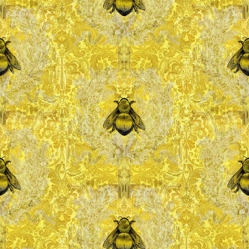 Timorous Beasties 'Imperial Apiary' Wallpaper Yelow