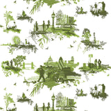 Timorous Beasties London Toile Fabric Greens