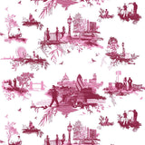 Timorous Beasties London Toile Fabric Reds