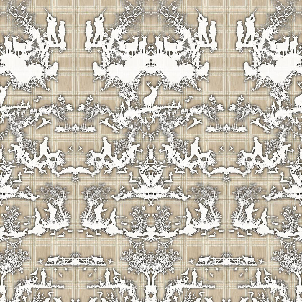 Timorous Beasties 'Open Season' Wallpaper Beige