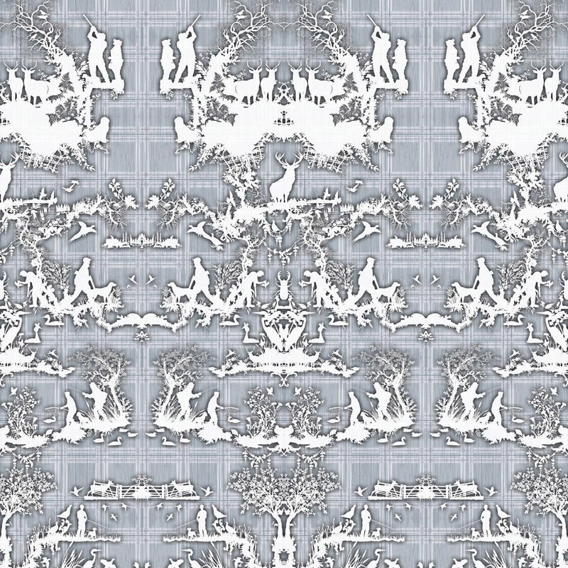 Timorous Beasties 'Open Season' Wallpaper Blue