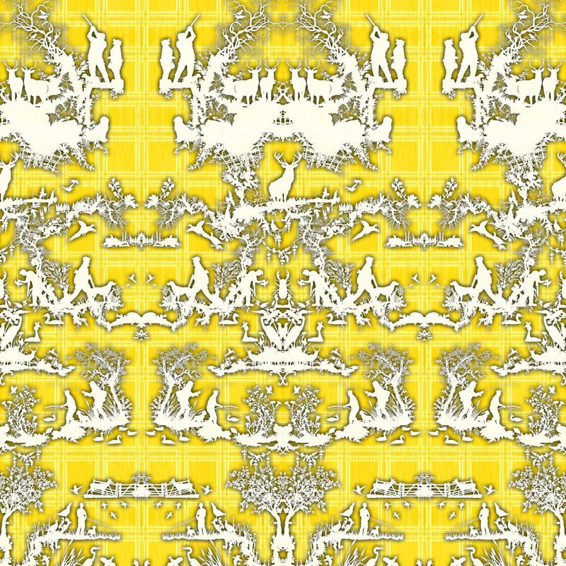 Timorous Beasties 'Open Season' Wallpaper Yellow