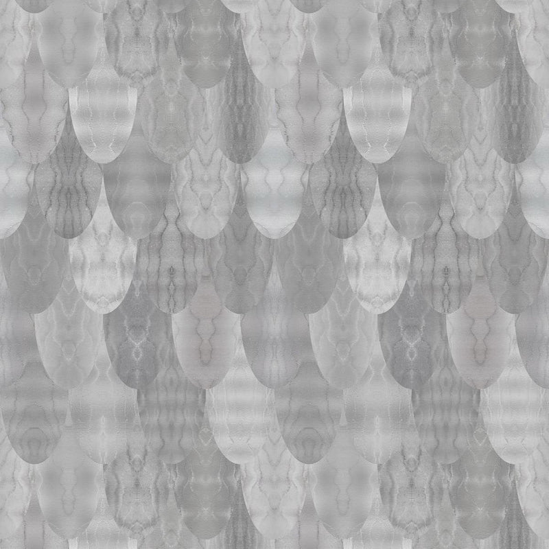 Timorous Beasties 'Pangolin' Wallpaper Greys