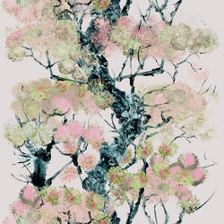 Timorous Beasties Pinyin Tree Superwide Wallpaper Pink
