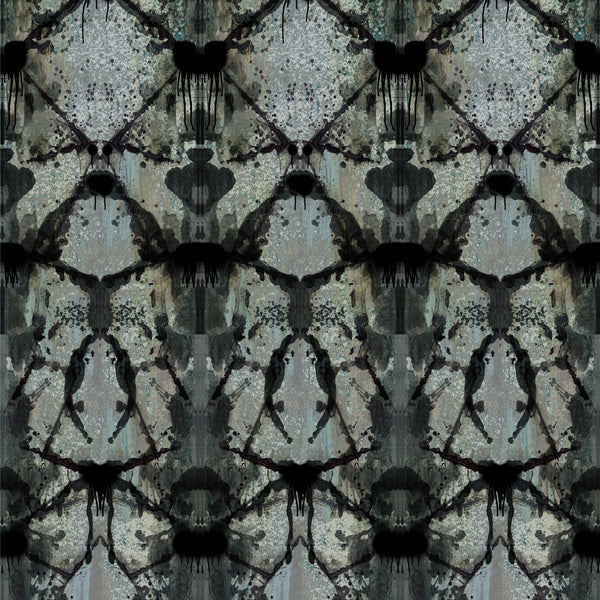 Timorous Beasties Rorschach Diamond Panel Wallpaper 3 Drops