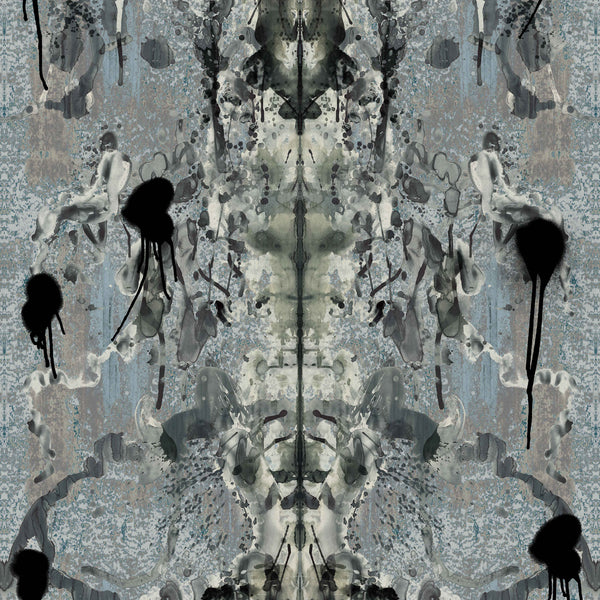 Timorous Beasties Rorschach Superwide Wallpaper Blue Grey