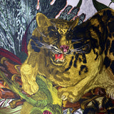 Timorous Beasties Tropical Clouded Leopard Fabric Close Up