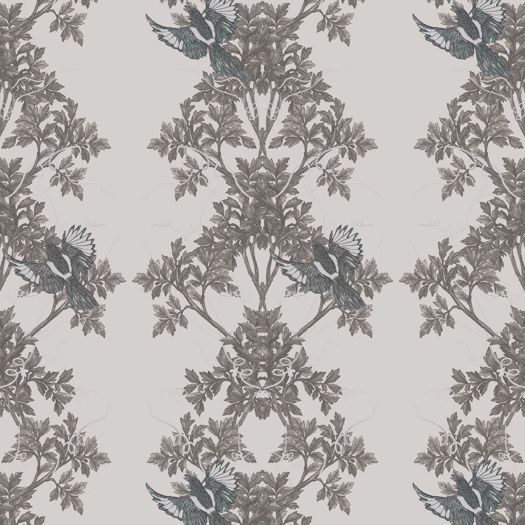 Timorous Beasties Two In A Bush Wallpaper Grey