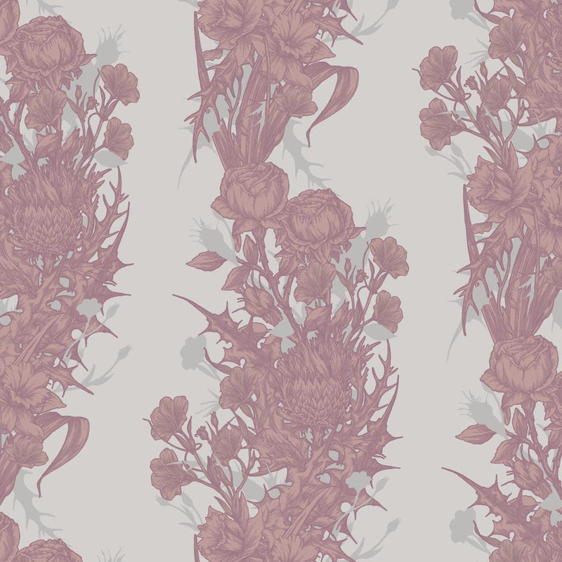 Timorous Beasties Union Wallpaper Dusty Pink