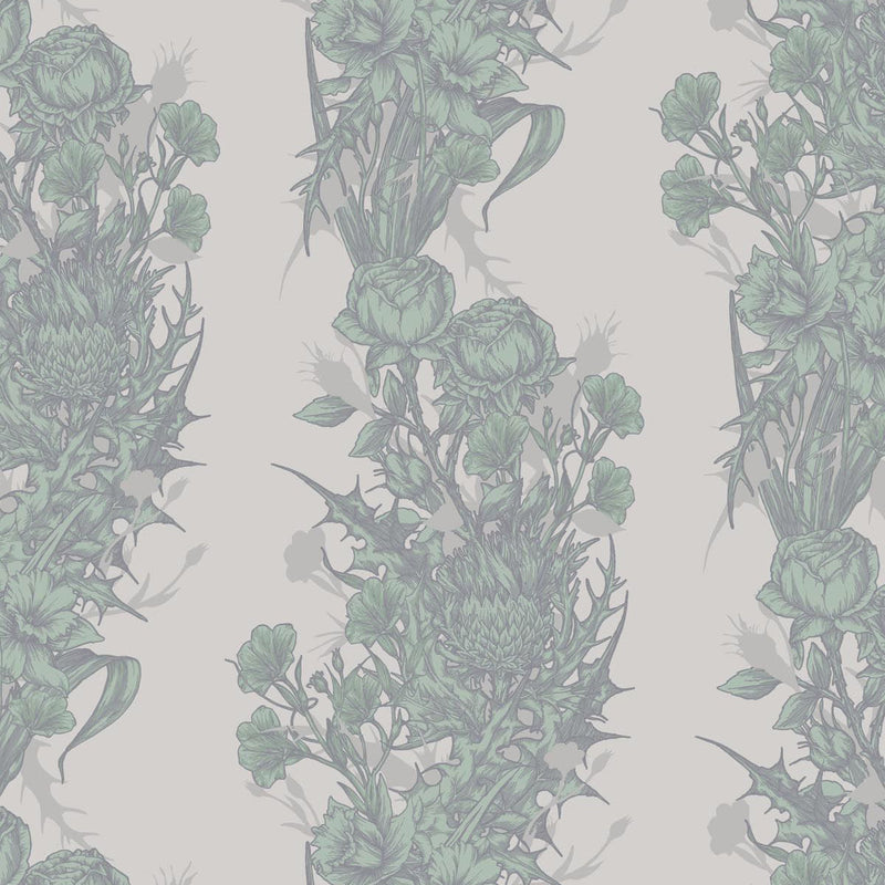 Timorous Beasties Union Wallpaper Sea Green