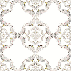 Timorous Beasties 'White Moth Circle' Wallpaper