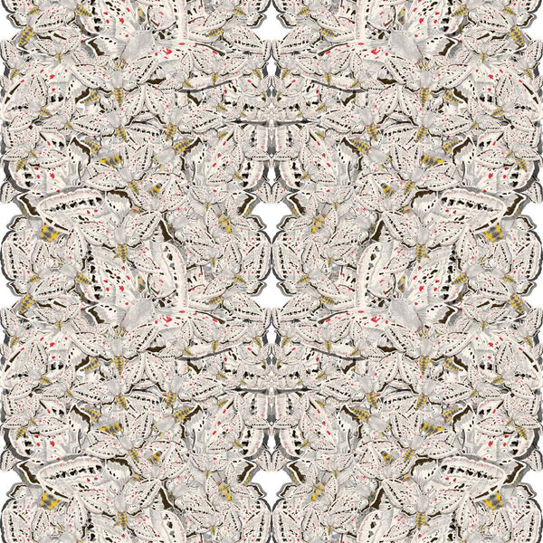 White Moth Allover Fabric