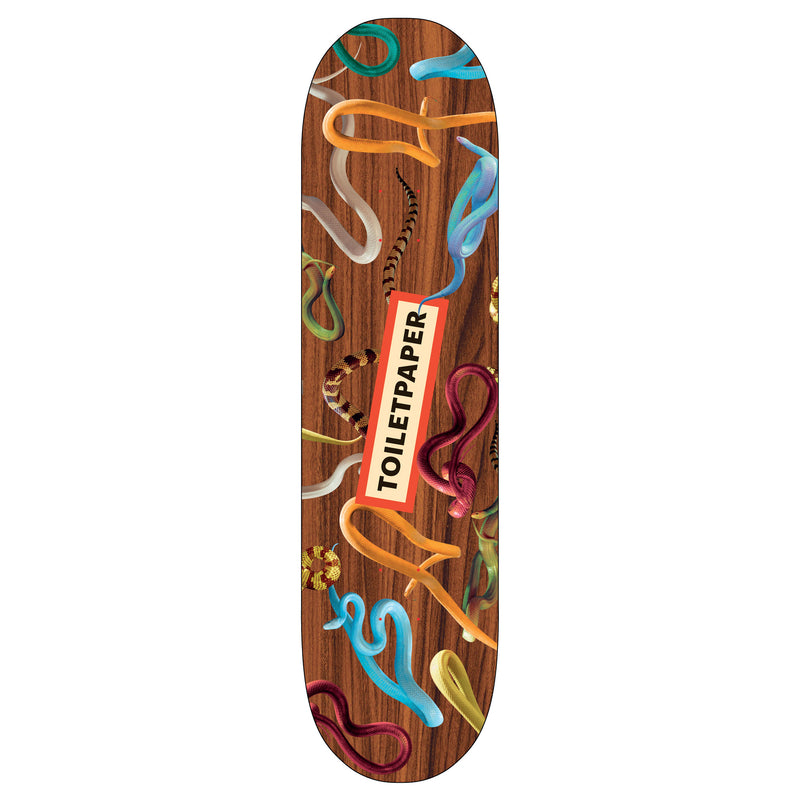 Toiletpaper 'Snakes Wood' Skateboard Deck