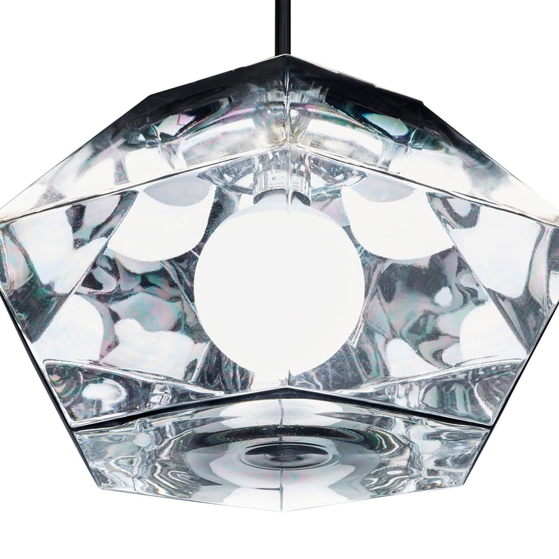 Tom Dixon Cut Short Pendant Chrome Detail Angle