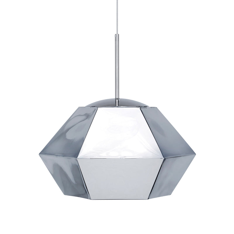 Tom Dixon Cut Short Pendant Chrome Light Off