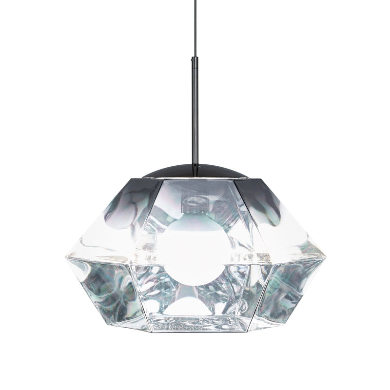 Tom Dixon Cut Short Pendant Chrome Light On