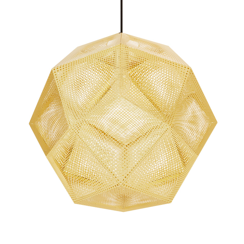 Tom Dixon Etch Pendant 50cm Brass Light Off