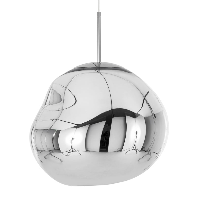 Tom Dixon Melt Pendant 50cm Chrome Light Off