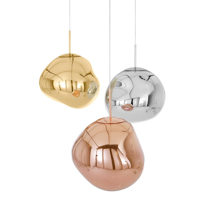 Tom Dixon Melt Pendant 50cm Copper Group Light Off