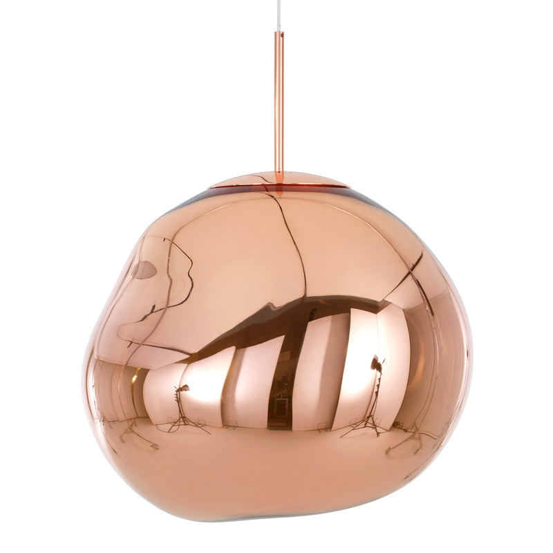 Tom Dixon Melt Pendant 50cm Copper Light Off