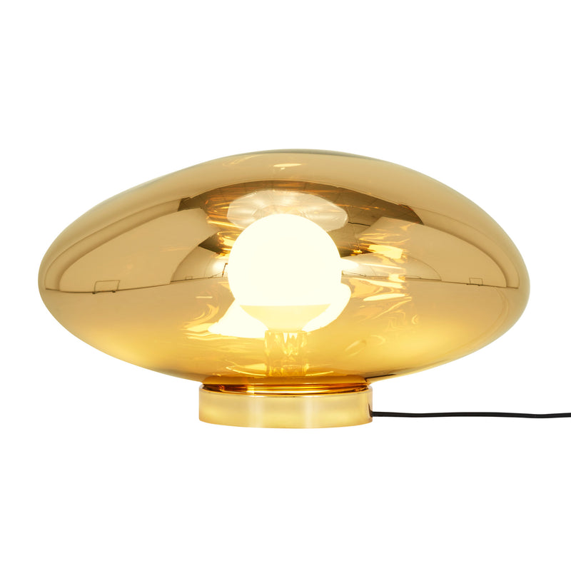 Tom Dixon Melt Surface Light Gold Floor Light On