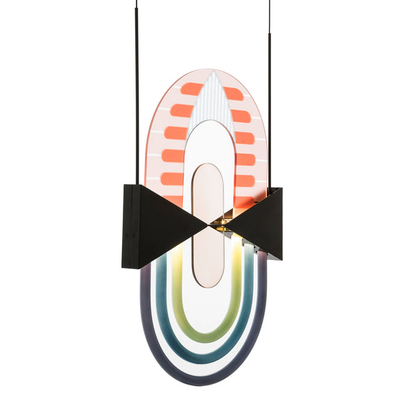 Torremato 'Miami' Pendant Lamp - F2A1 by Elena Salmistraro Side View