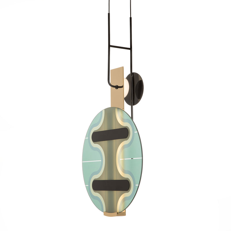 Torremato 'Miami' Pendant Lamp - F3A1 by Elena Salmistraro Side View